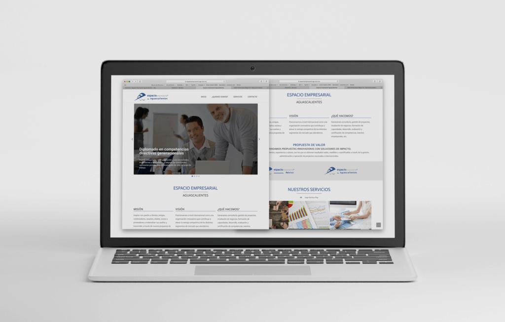 Diseño Web Espacio Empresarial Aguascalientes